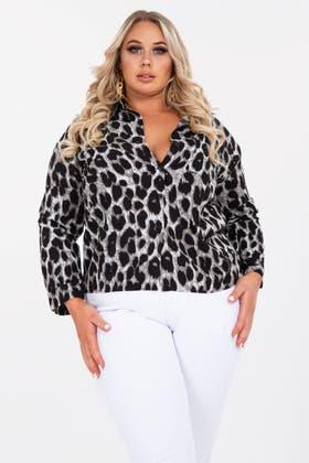 Black Leopard Print Shirt