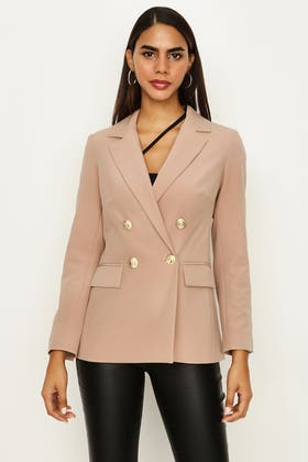 PRALINE DOUBLE BREASTED GOLD BUTTON JACKET
