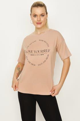 PRALINE LOVE YOURSELF SLOGAN TEE