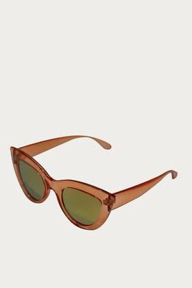 RED Acrylic Deep Cat Eyes Sunglasses