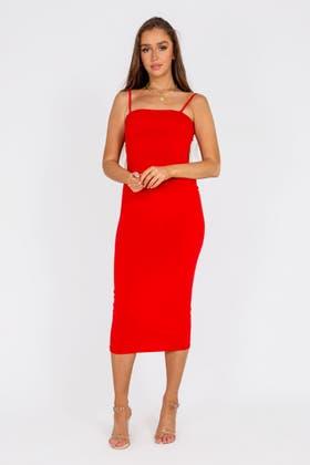 RED Cami Maxi Dress