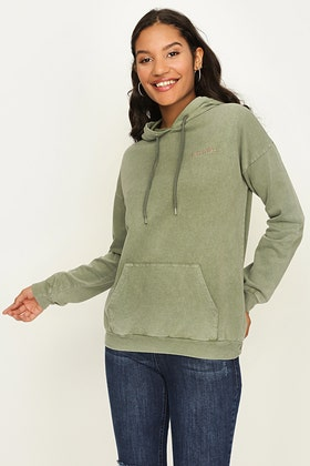 CEDAR GREEN OFFICIAL BACK PRINT WASHED HOODIE