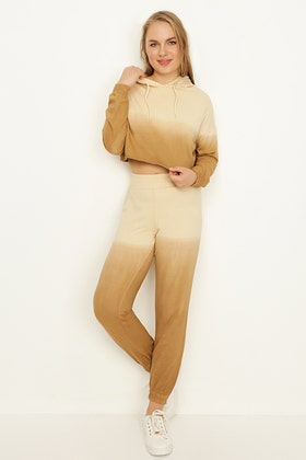 WARM TAUPE OMBRE JOGGERS