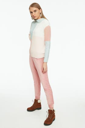 SHELL PINK CHENILLE SOFT TOUCH JOGGER