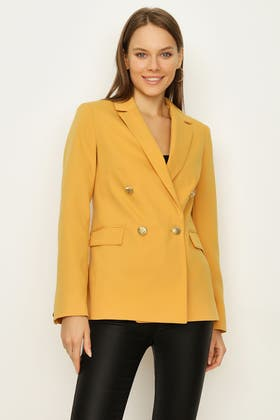 SIENNA DOUBLE BREASTED GOLD BUTTON JACKET