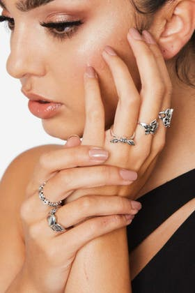 SILVER Creative Butterfly Rings