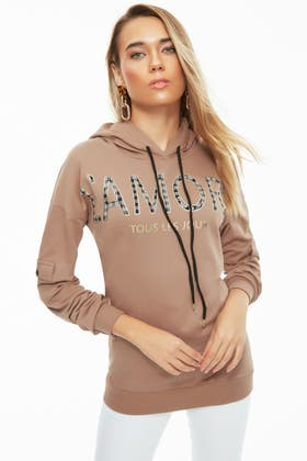 SPICE L'AMOUR CHECK PLACEMENT HOODIE