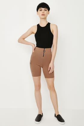 SPICE ZIP FRONT CARGO CYCLING SHORTS