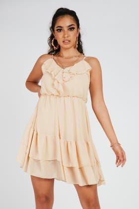 STONE Frill Cami Mini Dress