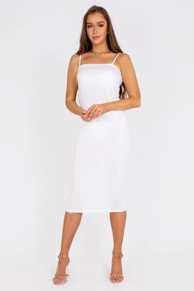 WHITE Cami Maxi Dress