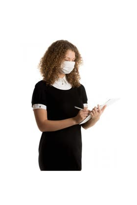 WHITE DISPOSABLE FACE MASK 50 PACK