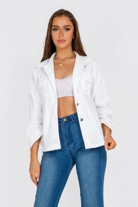 IVORY Pocket Shacket Jacket
